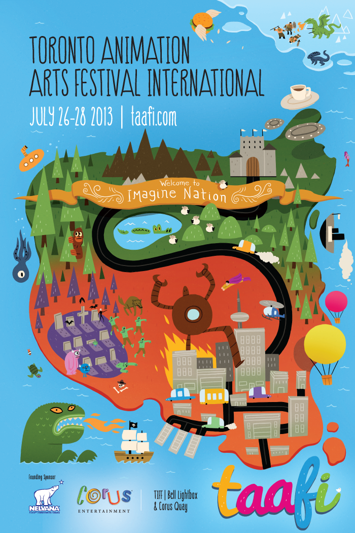 TAAFI 2013 Poster, Industry Party tonight! | Canadian Animation ...