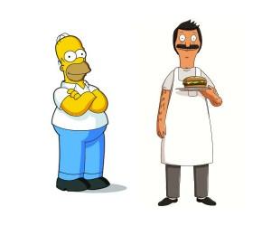 simpsons bob's burgers
