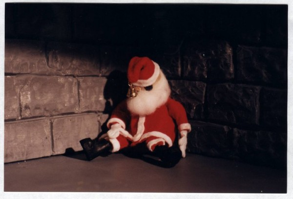down a dark chimney, santa claus, christmas, animation